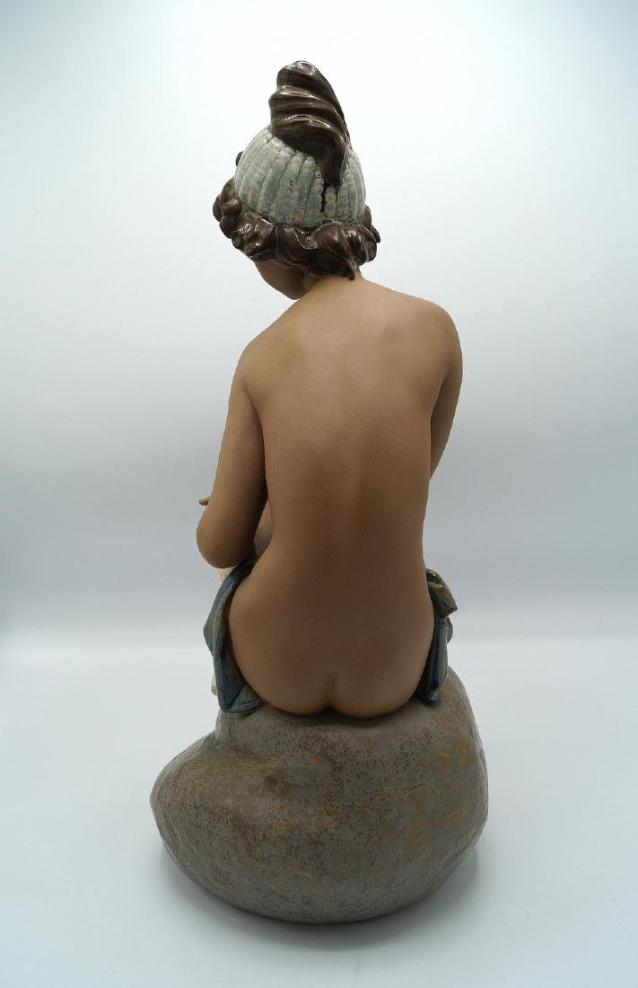 LLADRO # 2182 DAYDREAMING GIRL ON ROCK - 3
