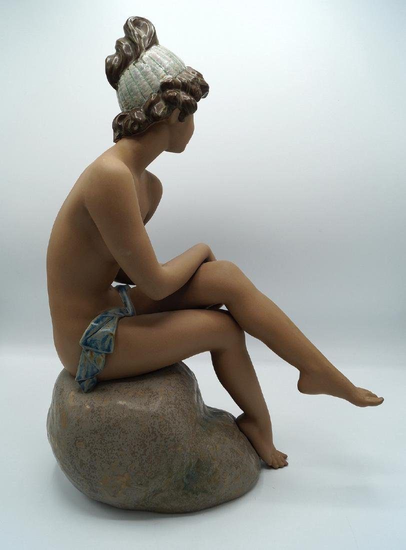LLADRO # 2182 DAYDREAMING GIRL ON ROCK - 4