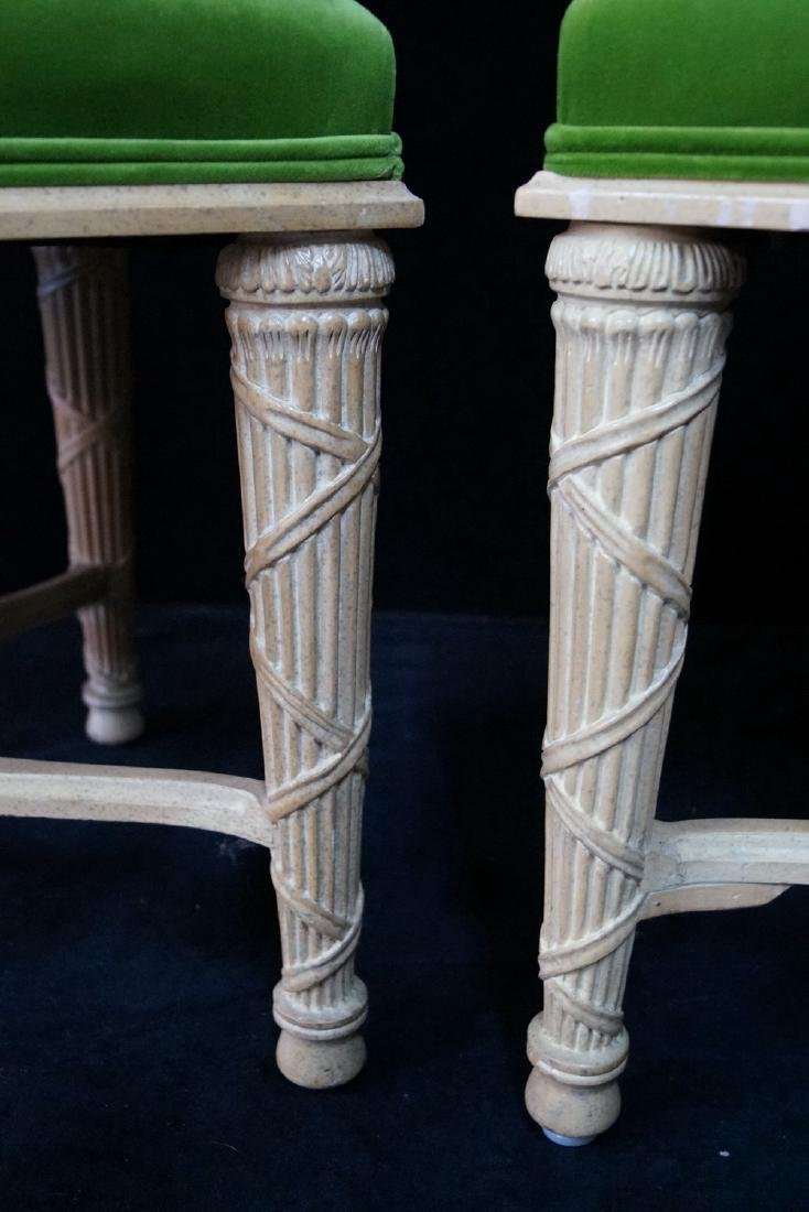 PR. DIRECTOIRE STYLE  UPHOLSTERED STOOLS - 4