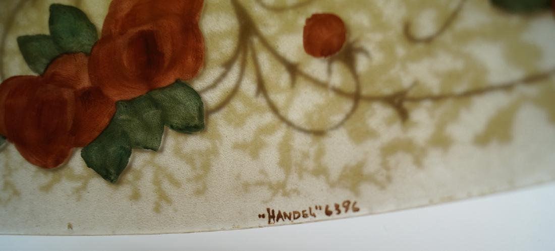 HANDEL LAMP W/REVERSE PAINTED & SGN. SHADE - 4