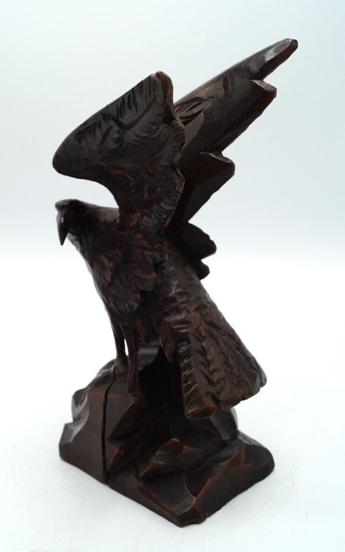 BLACK FOREST CARVED EAGLE - 2