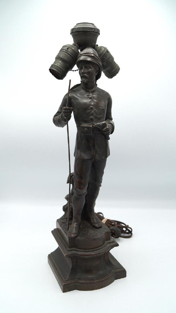 BRONZE FIGURE OF DR. LIVINGSTON