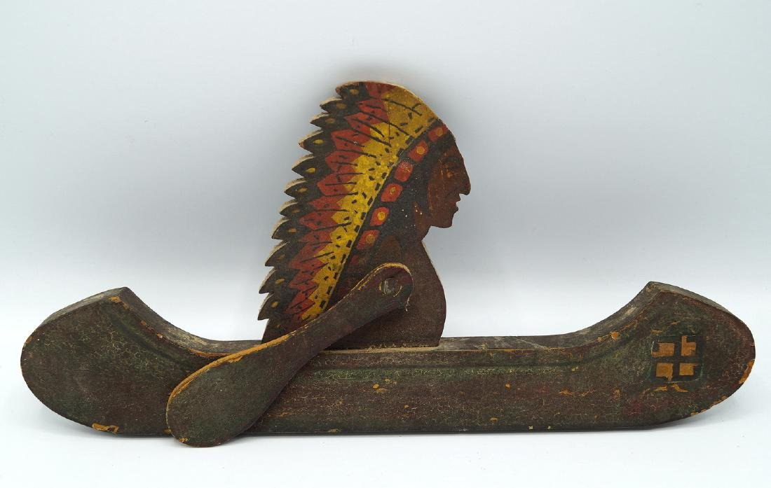 2 CARVED WOOD & PAINTED NATIVE AMERICAN WHIRLY-GIG; - 3