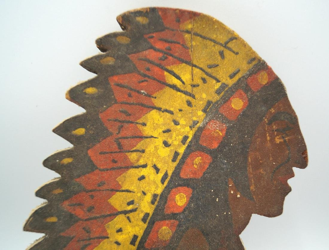 2 CARVED WOOD & PAINTED NATIVE AMERICAN WHIRLY-GIG; - 4