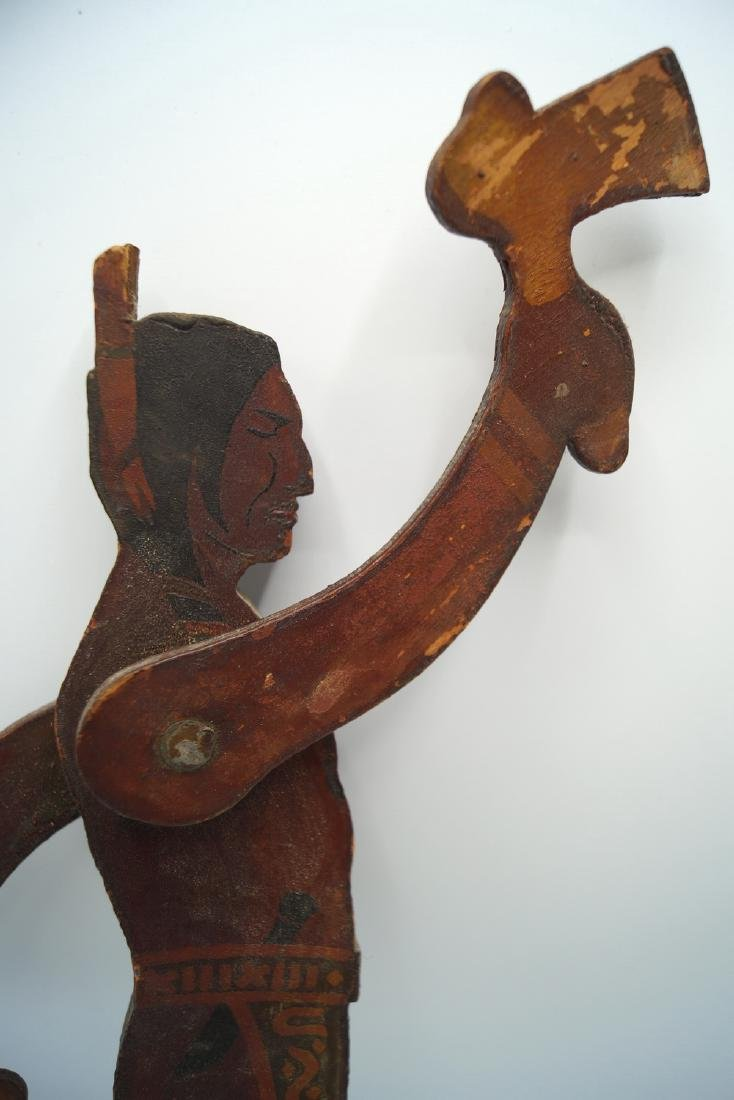 2 CARVED WOOD & PAINTED NATIVE AMERICAN WHIRLY-GIG; - 7