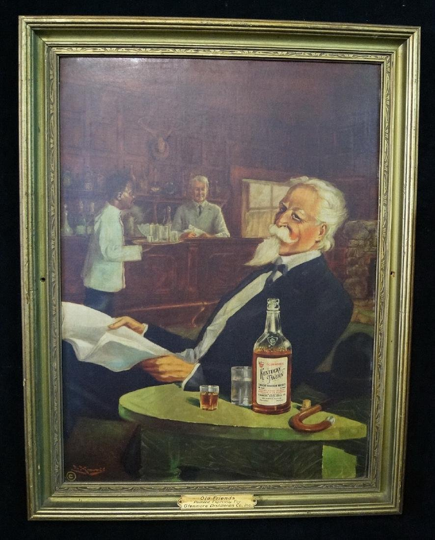 """VINTAGE PRINT """"OLD FRIENDS"""" PAINTED FOR GLENMORE"""