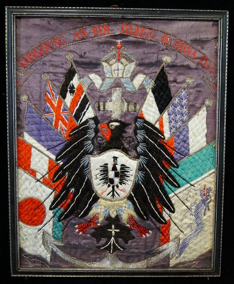 EMBROIDERED COAT OF ARMS C. 1900