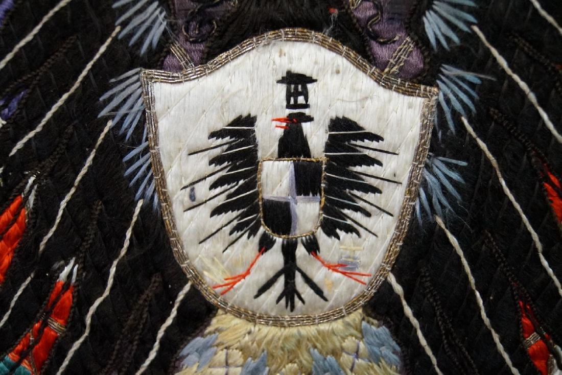 EMBROIDERED COAT OF ARMS C. 1900 - 3