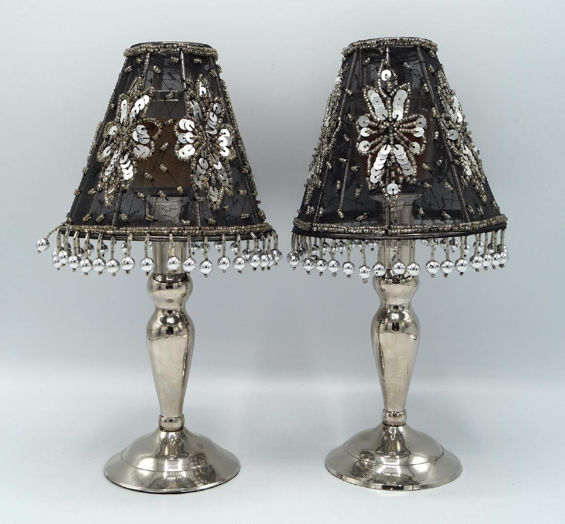 PR. SILVERPLATE CANDLESTICK LAMPS