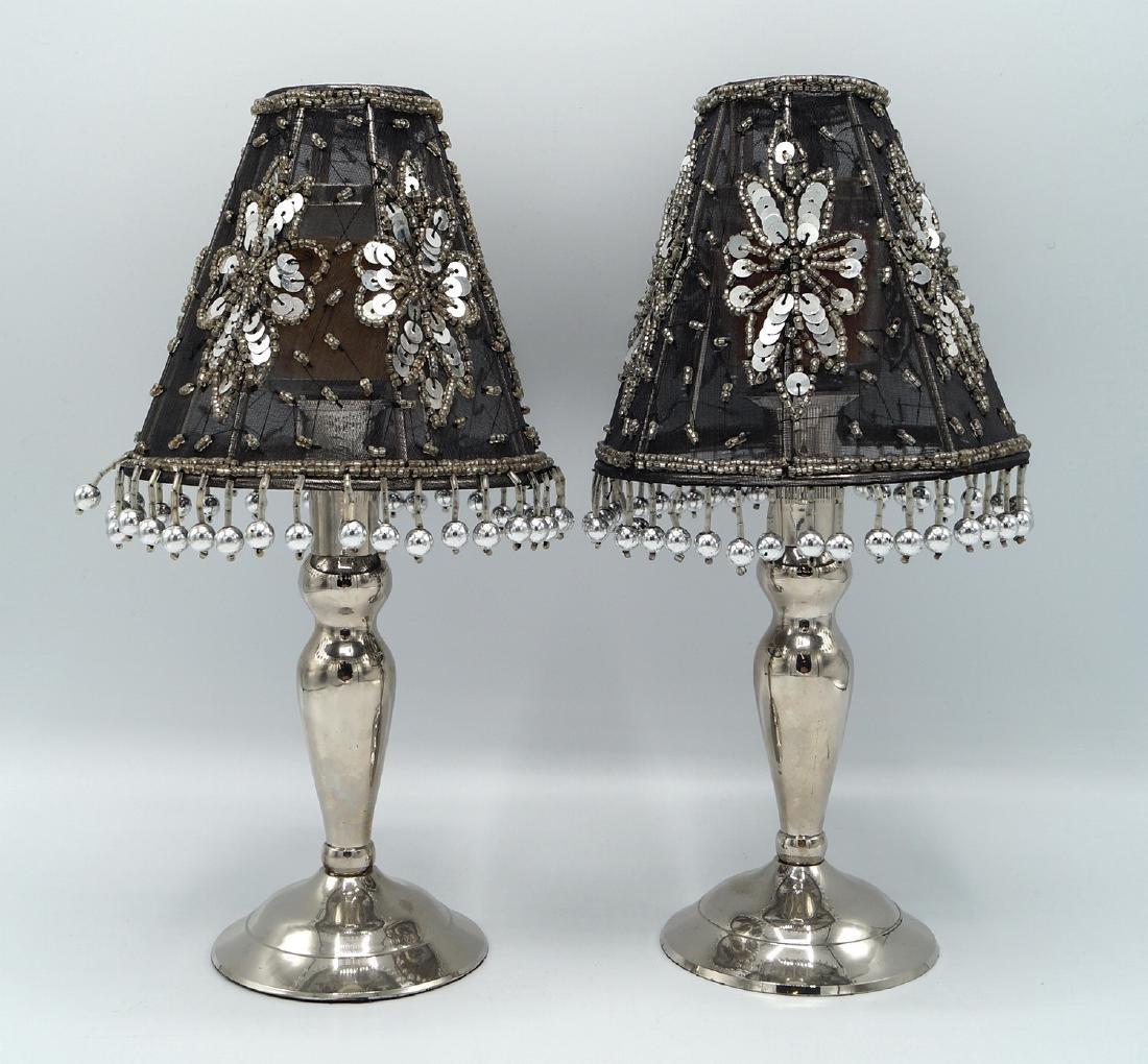 PR. SILVERPLATE CANDLESTICK LAMPS