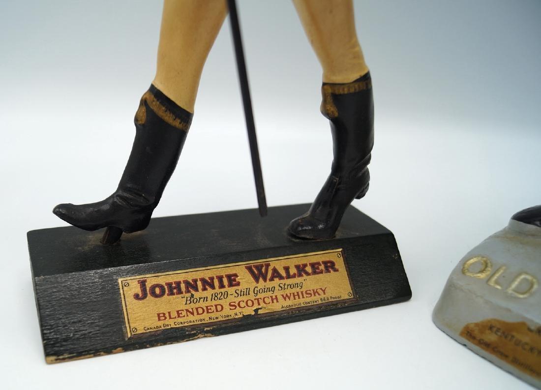 """JOHNNIE WALKER & OLD CROW ADVERTISING FIGURES 11""""H - 3"""