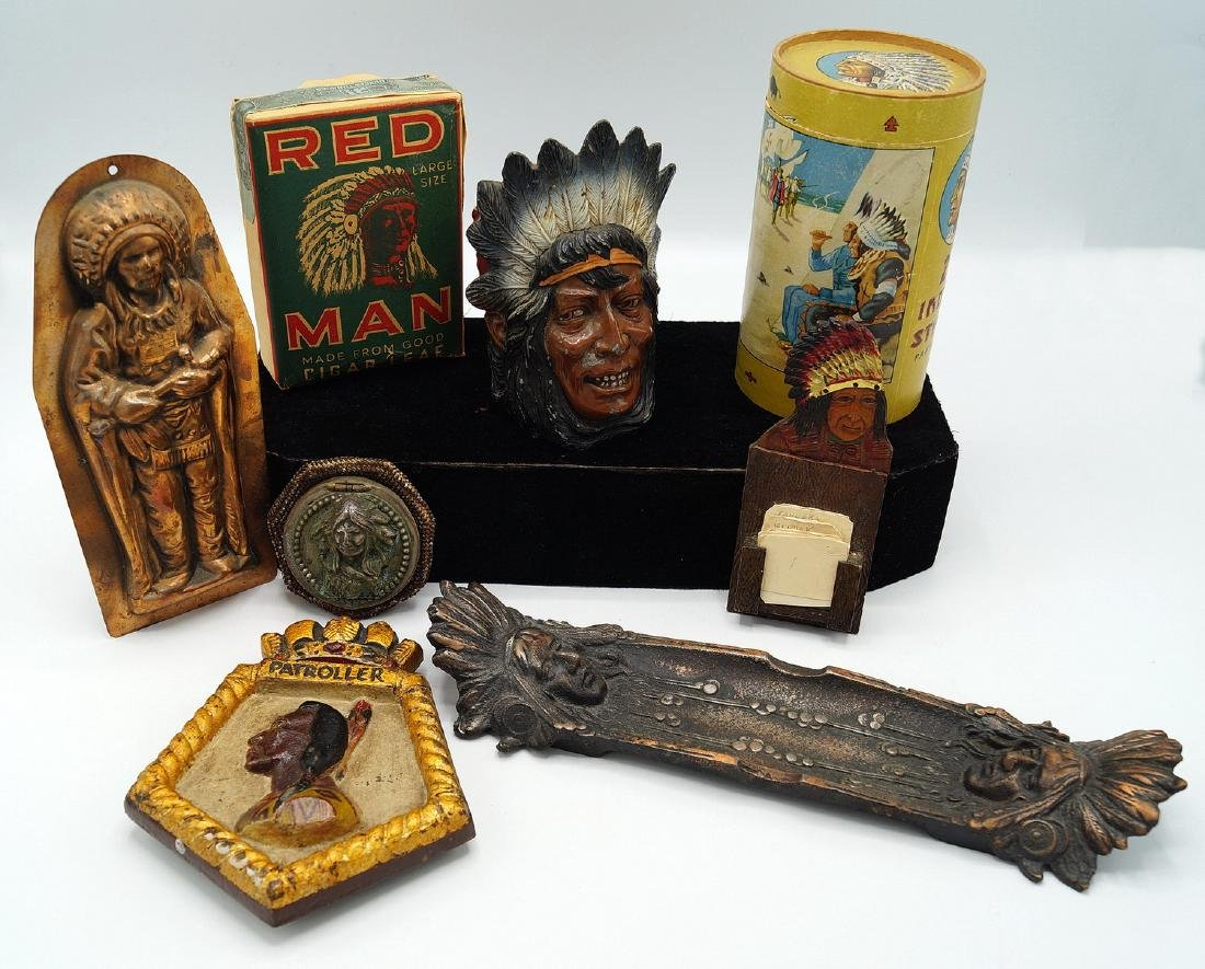 TRAY LOT INDIAN ITEMS