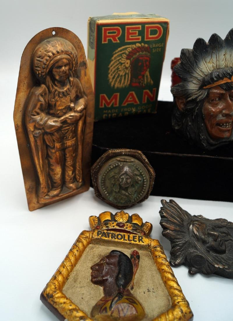 TRAY LOT INDIAN ITEMS - 5