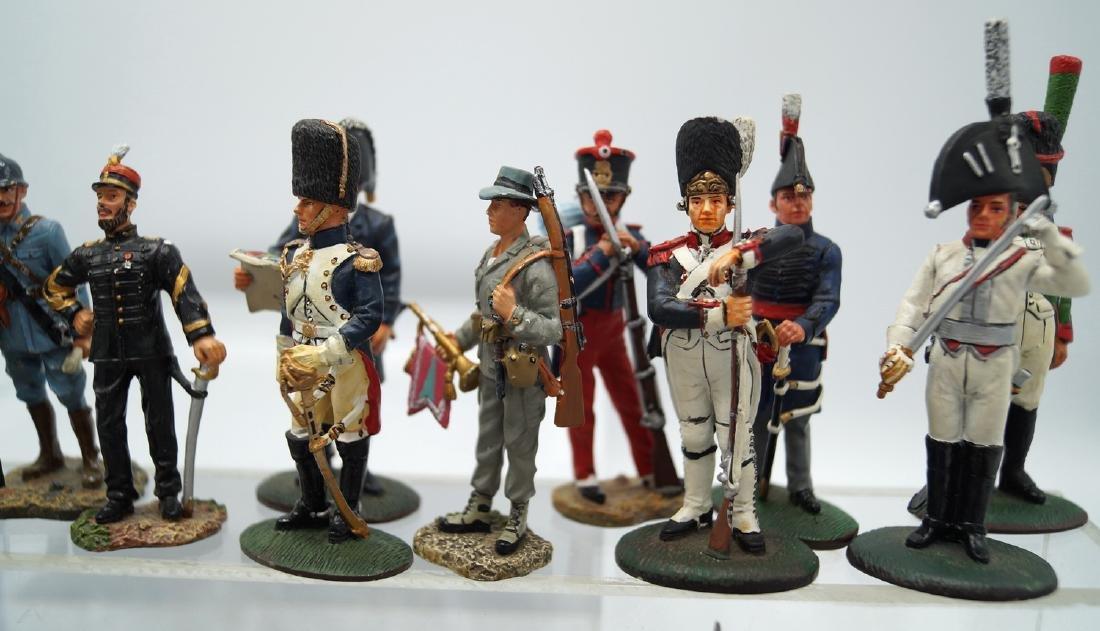 45+ PAINTED SOLDIERS W/  CANNON (DELPRADO, ETC.) - 4
