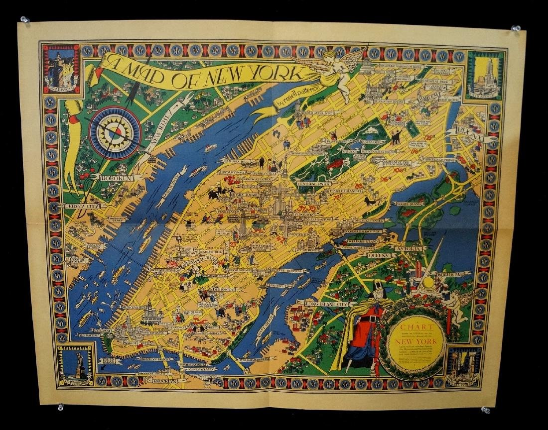 THE GREAT MAP OF NEW YORK 1939 WORLD'S FAIR  RUSSELL