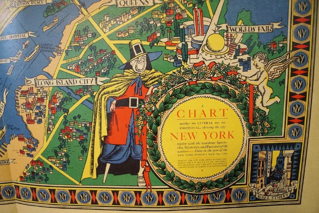 THE GREAT MAP OF NEW YORK 1939 WORLD'S FAIR  RUSSELL - 2