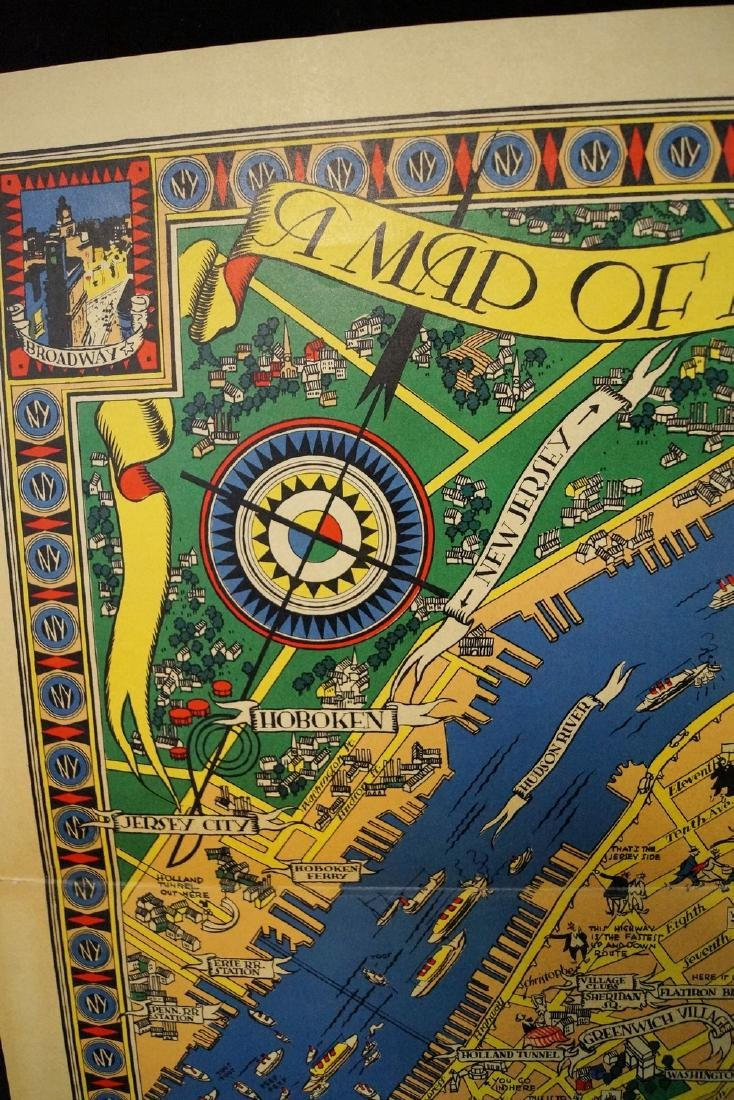 THE GREAT MAP OF NEW YORK 1939 WORLD'S FAIR  RUSSELL - 4