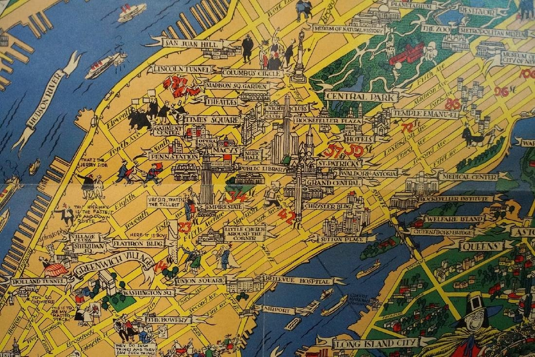 THE GREAT MAP OF NEW YORK 1939 WORLD'S FAIR  RUSSELL - 5