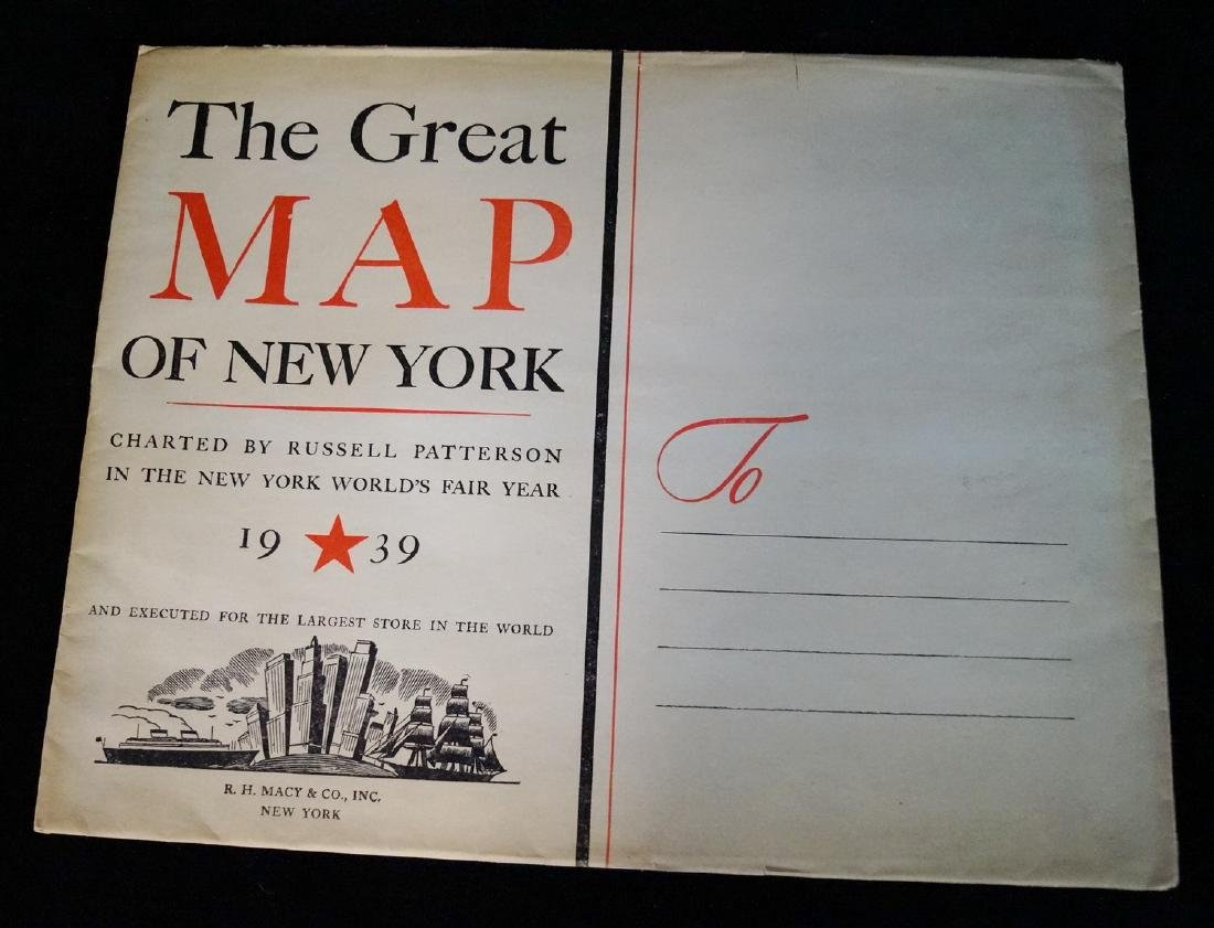 THE GREAT MAP OF NEW YORK 1939 WORLD'S FAIR  RUSSELL - 6
