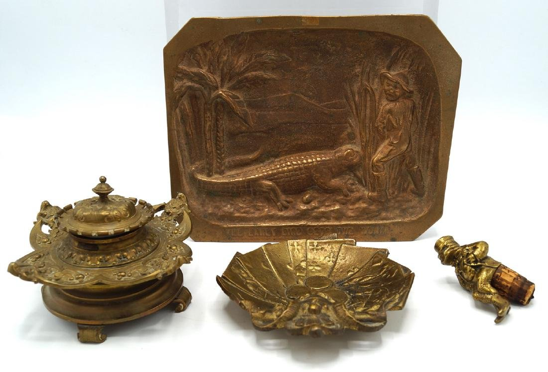 LOT 4 BRONZE ITEMS