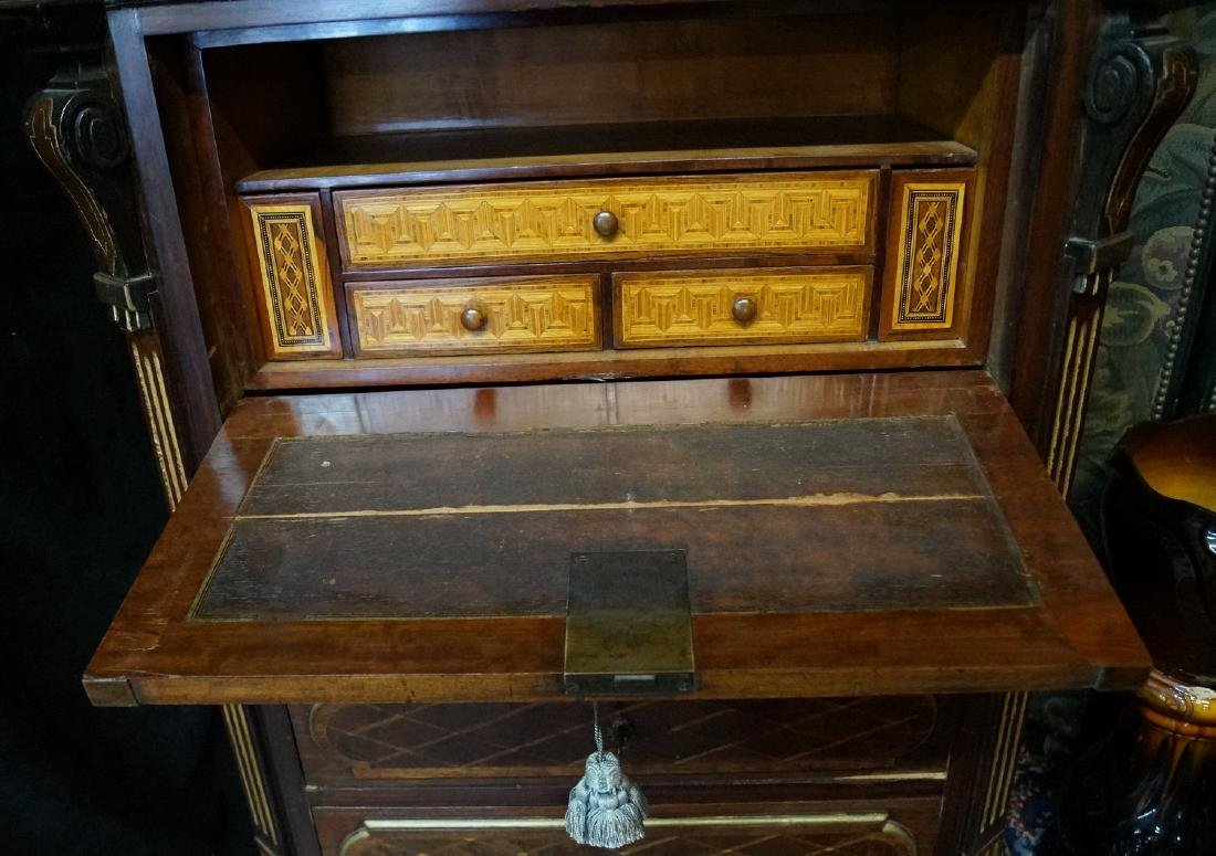 19TH CENT. FRENCH VICTORIAN INLAID ABATTANT - 6