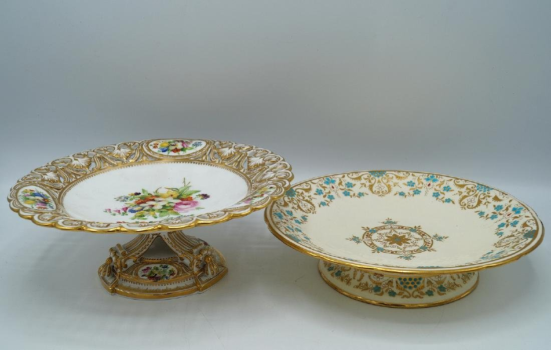 2 CAKE STANDS, ONE MINTON
