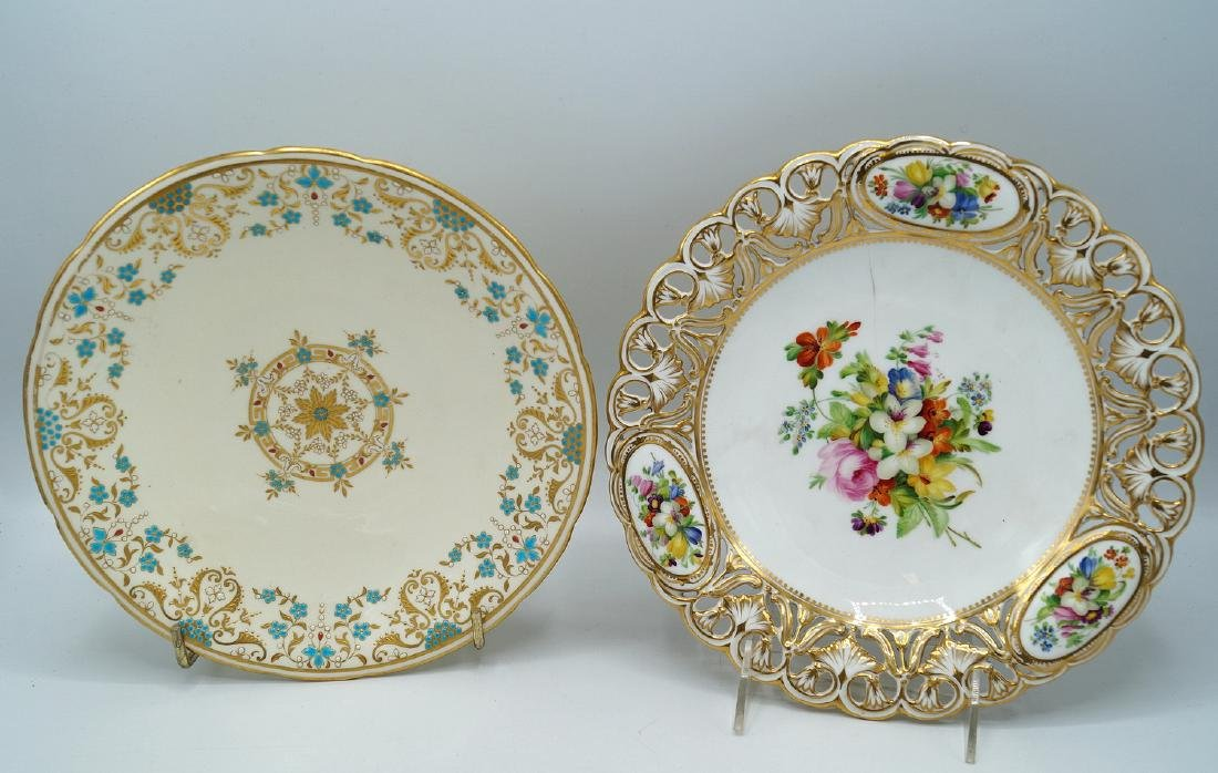 2 CAKE STANDS, ONE MINTON - 2
