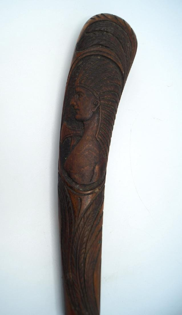 CARVED WOOD HANDLE MAGNIFYING GLASS - 2