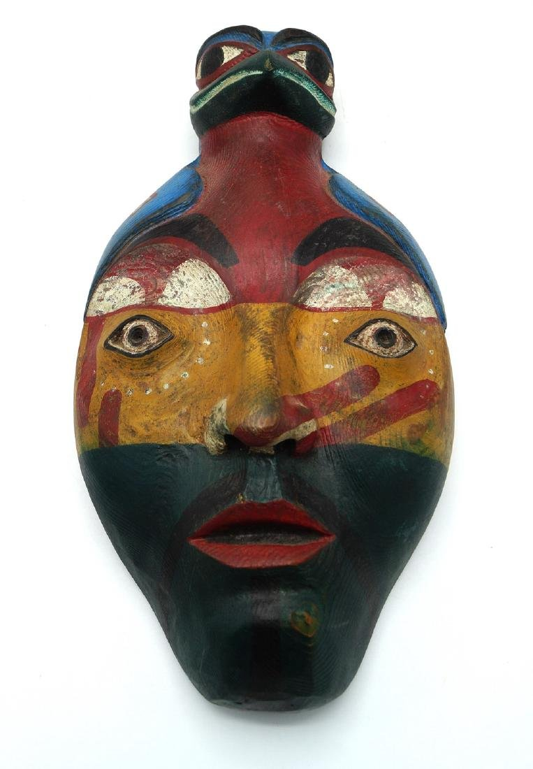 TRAY LOT PAINTED WOOD ITEMS, INC. MASKS - 5
