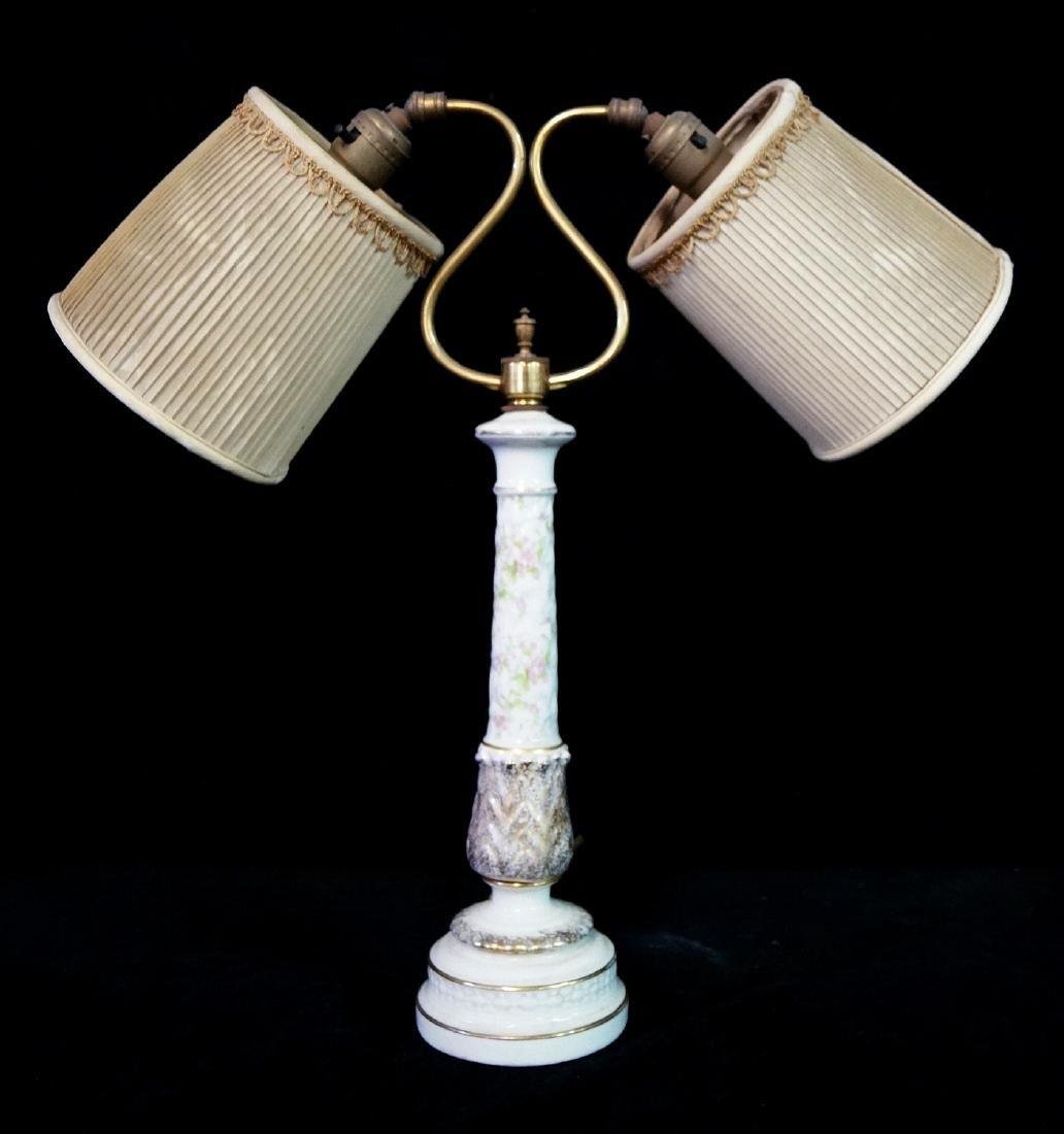 PORCELAIN DOUBLE HEADED LAMP
