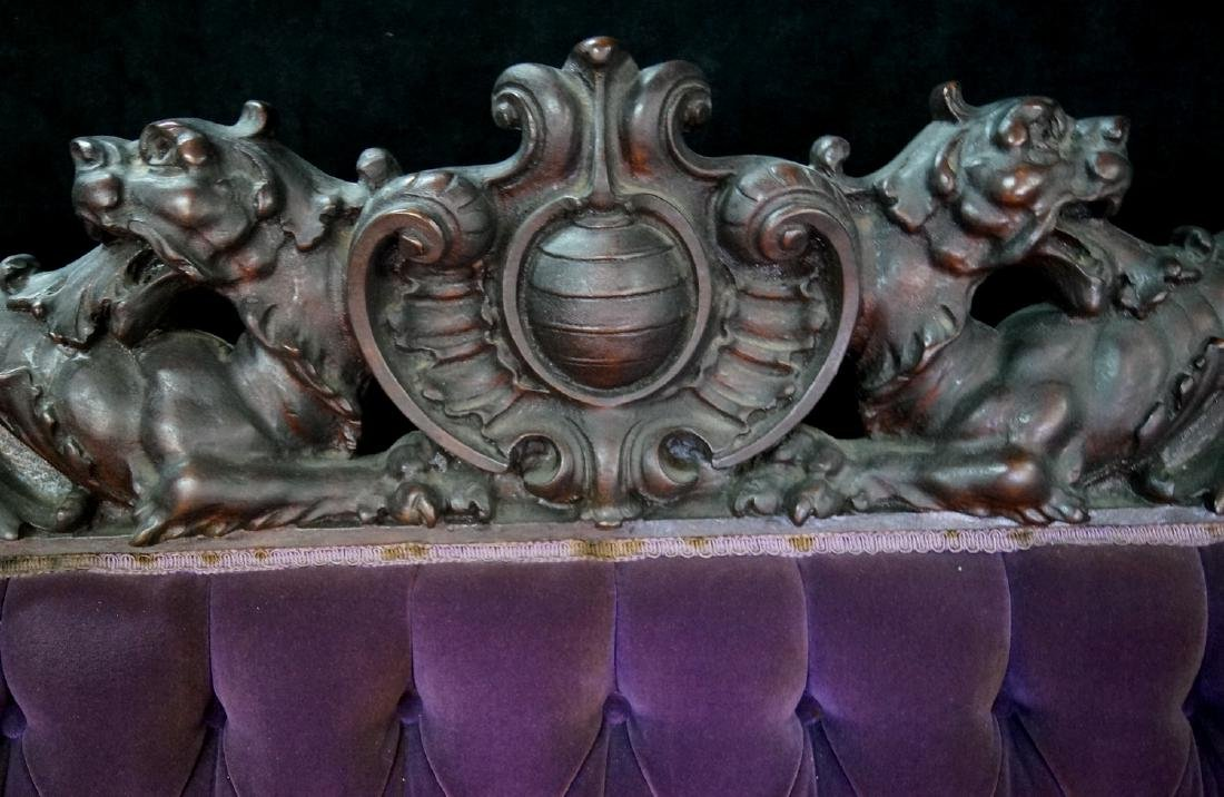 VICTORIAN CARVED FIGURAL SETTEE - 3