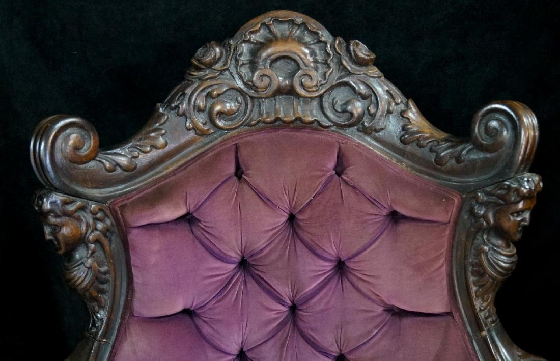 CARVED FIGURAL ARM CHAIR - 2