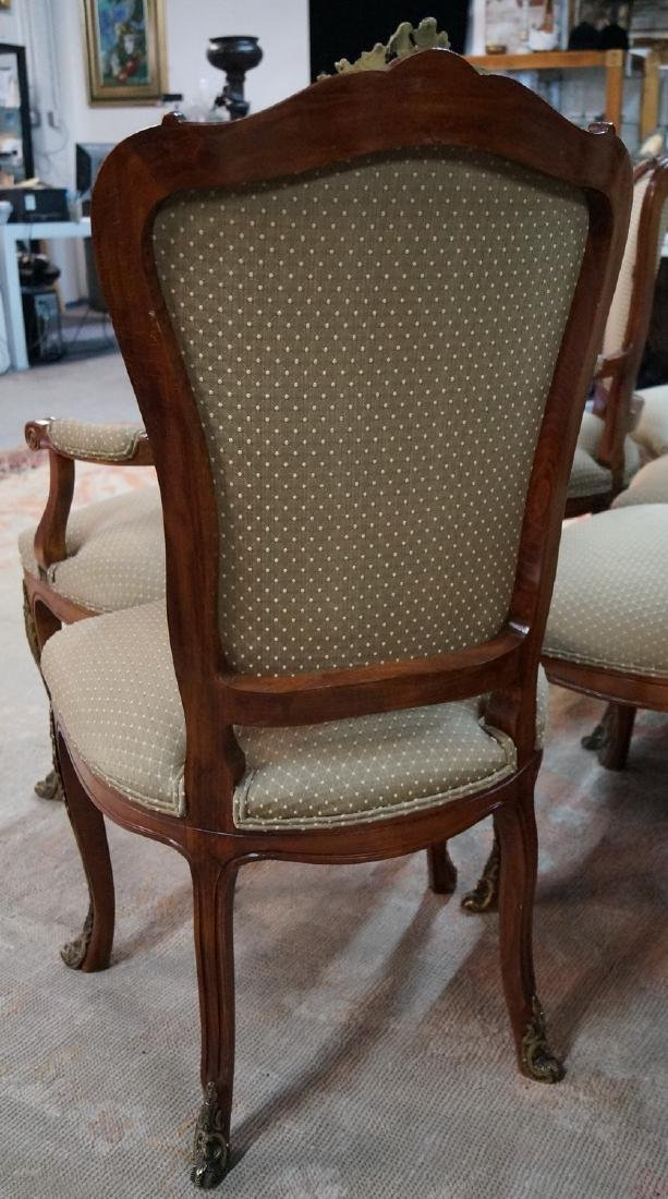 SET 12 LOUIS XV STYLE BRONZE MOUNTED CHAIRS - 7