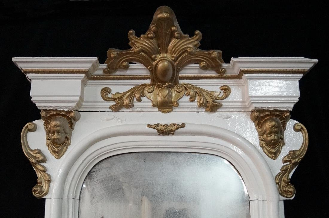 LARGE PAINT DECORATED PIER MIRROR - 2