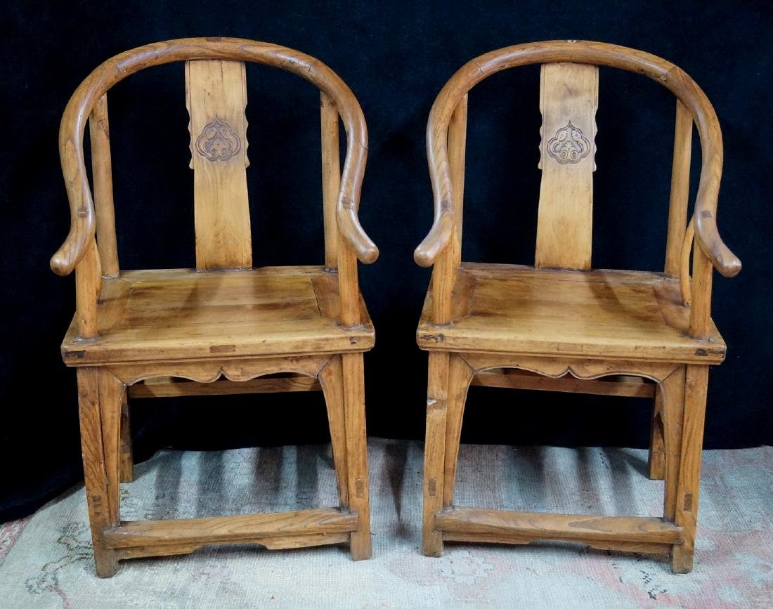PR. WOOD OX BOW CHAIRS