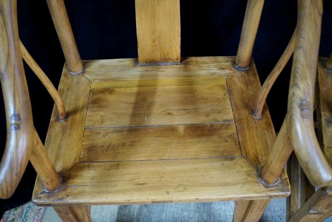 PR. WOOD OX BOW CHAIRS - 3