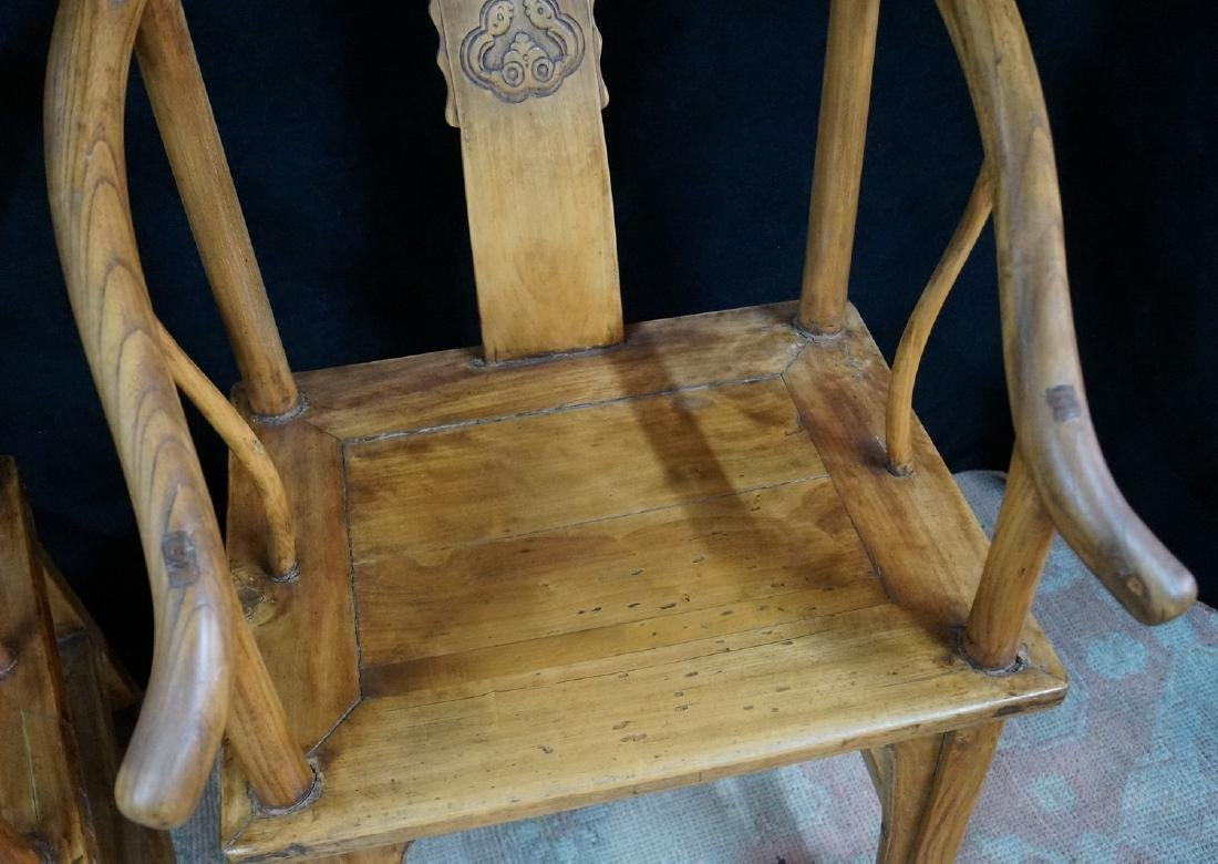 PR. WOOD OX BOW CHAIRS - 4