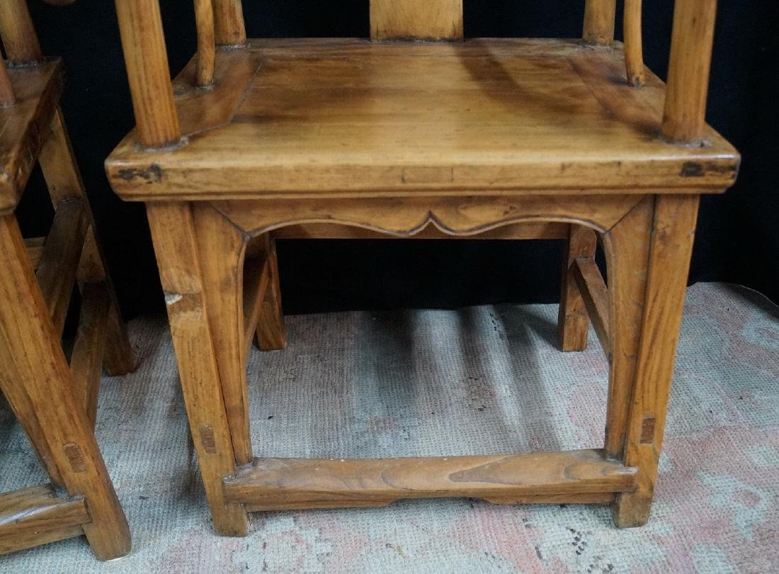 PR. WOOD OX BOW CHAIRS - 6