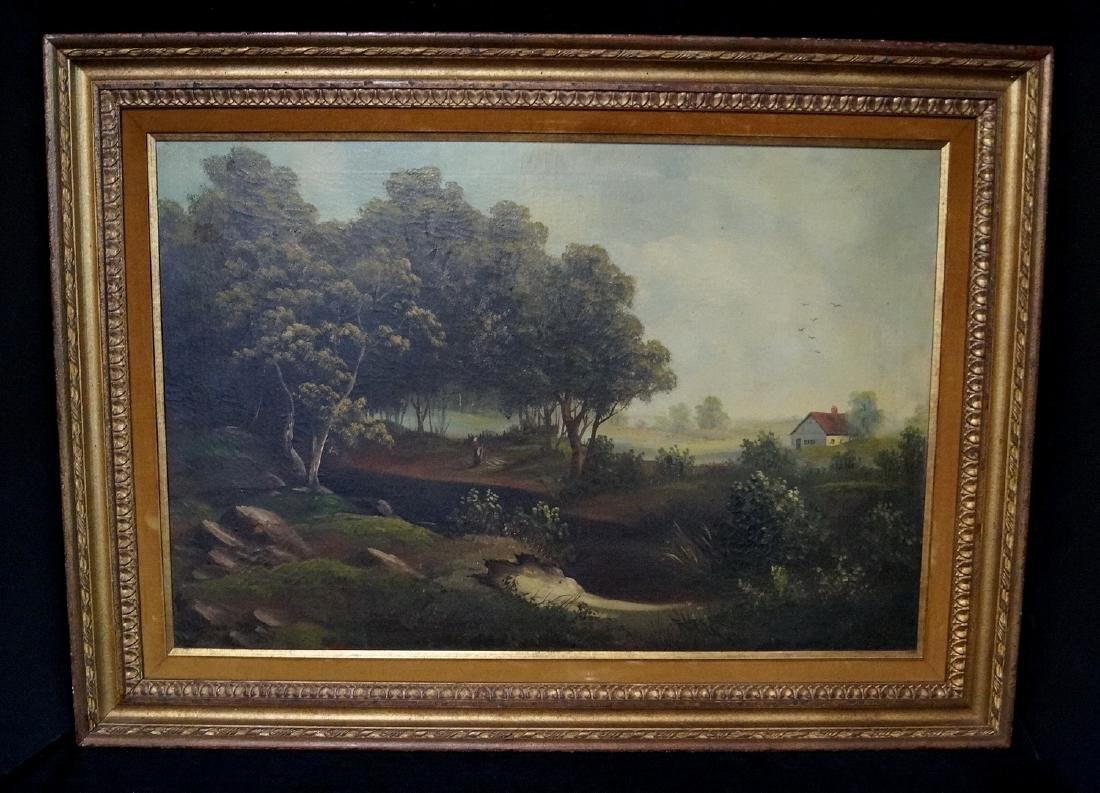 POWELL SGN. OIL ON CANVAS LANDSCAPE