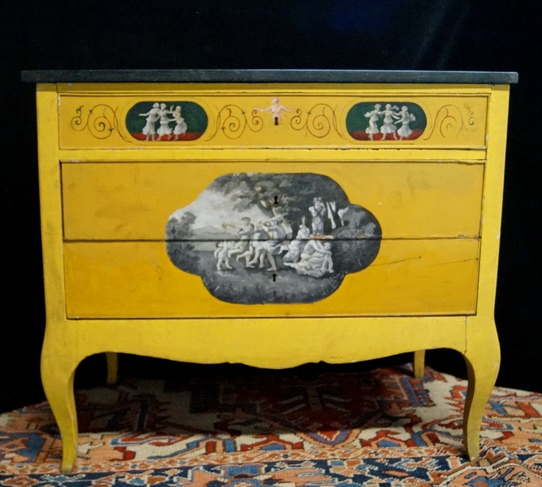 NEO-CLASSICAL STYLE PAINTED COMMODE