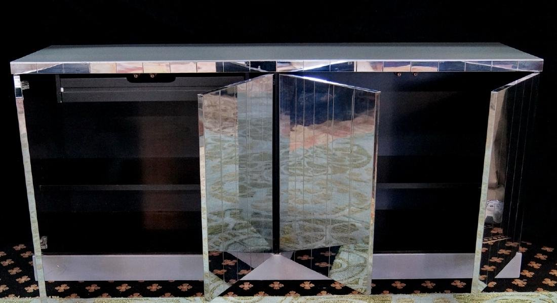 PAUL EVANS STATUS I STAINLESS STEEL & LUCITE CABINET - 7