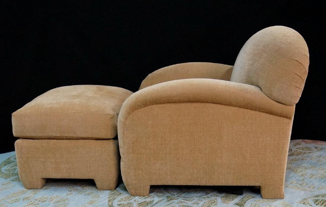 OVERSIZED UPHOLSTERED CHAIR & OTTOMAN