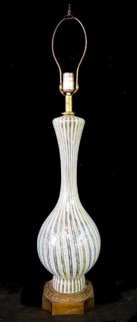 MID CENTURY VENETIAN GLASS LAMP