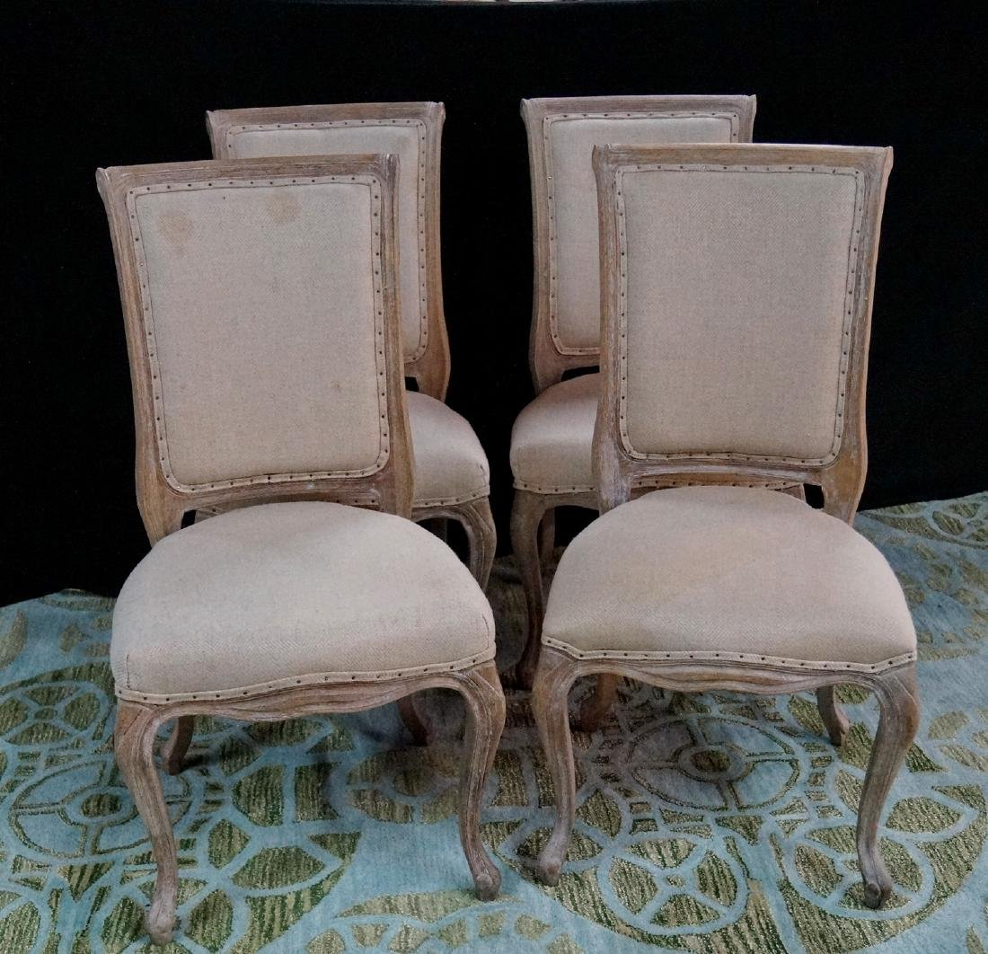 4 LIMED OAK DINING CHAIRS