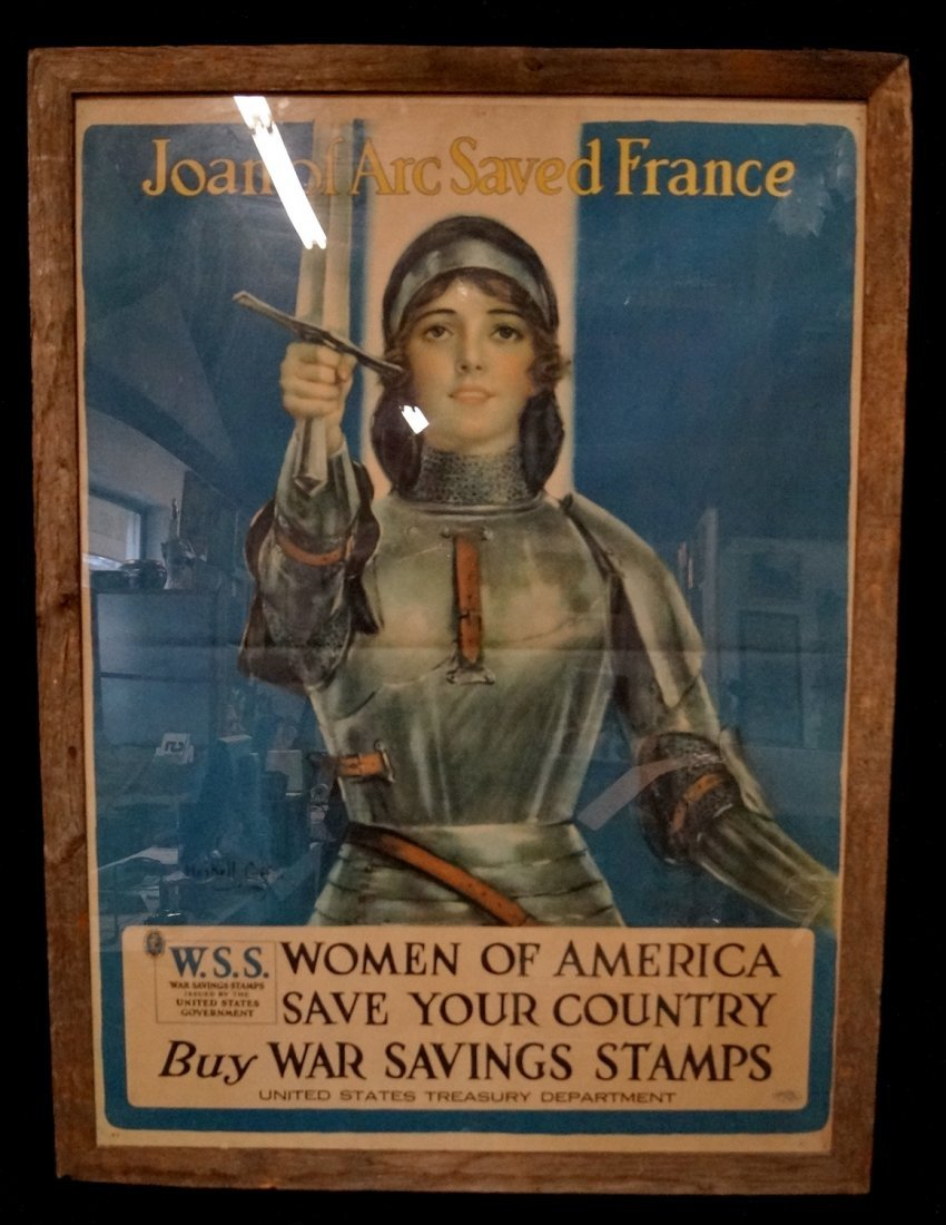HASKELL COFFIN WW I JOAN OF ARC POSTER