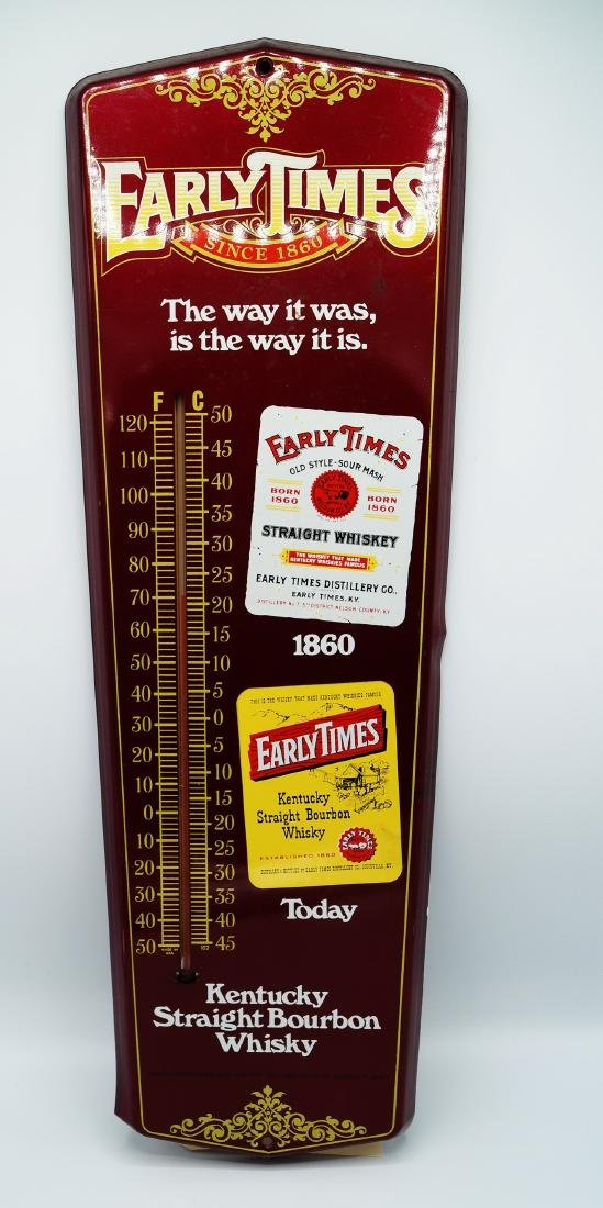 """""""EARLY TIMES"""" ADVERTISING THERMOMETER"""