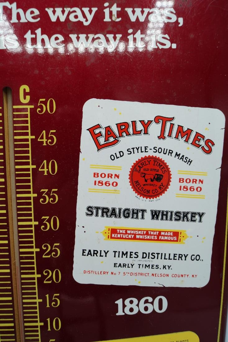 """""""EARLY TIMES"""" ADVERTISING THERMOMETER - 2"""