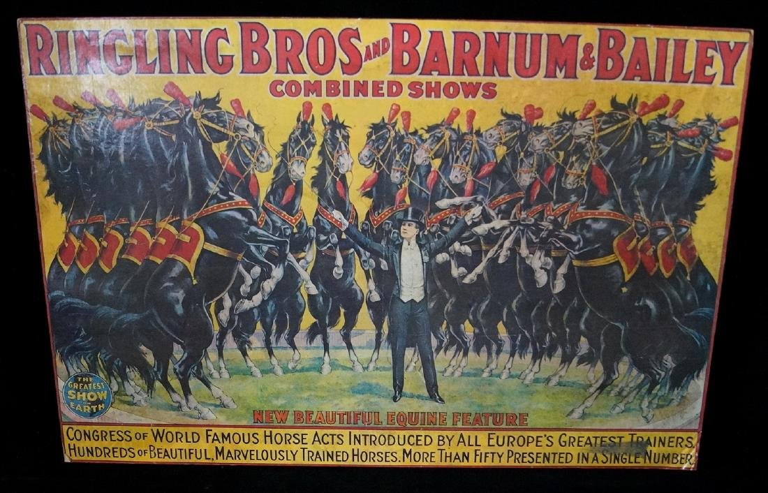 RINGLING BROS. POSTER MOUNTED TO FOAM