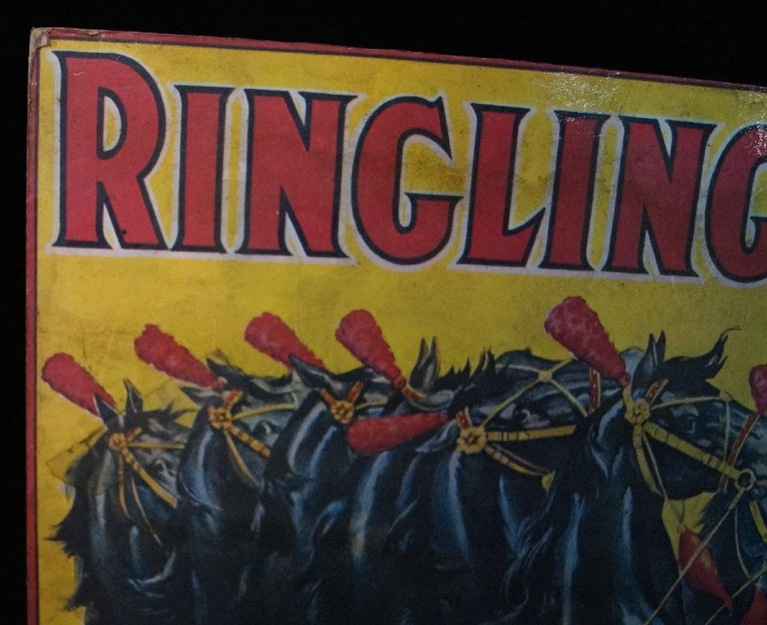 RINGLING BROS. POSTER MOUNTED TO FOAM - 4
