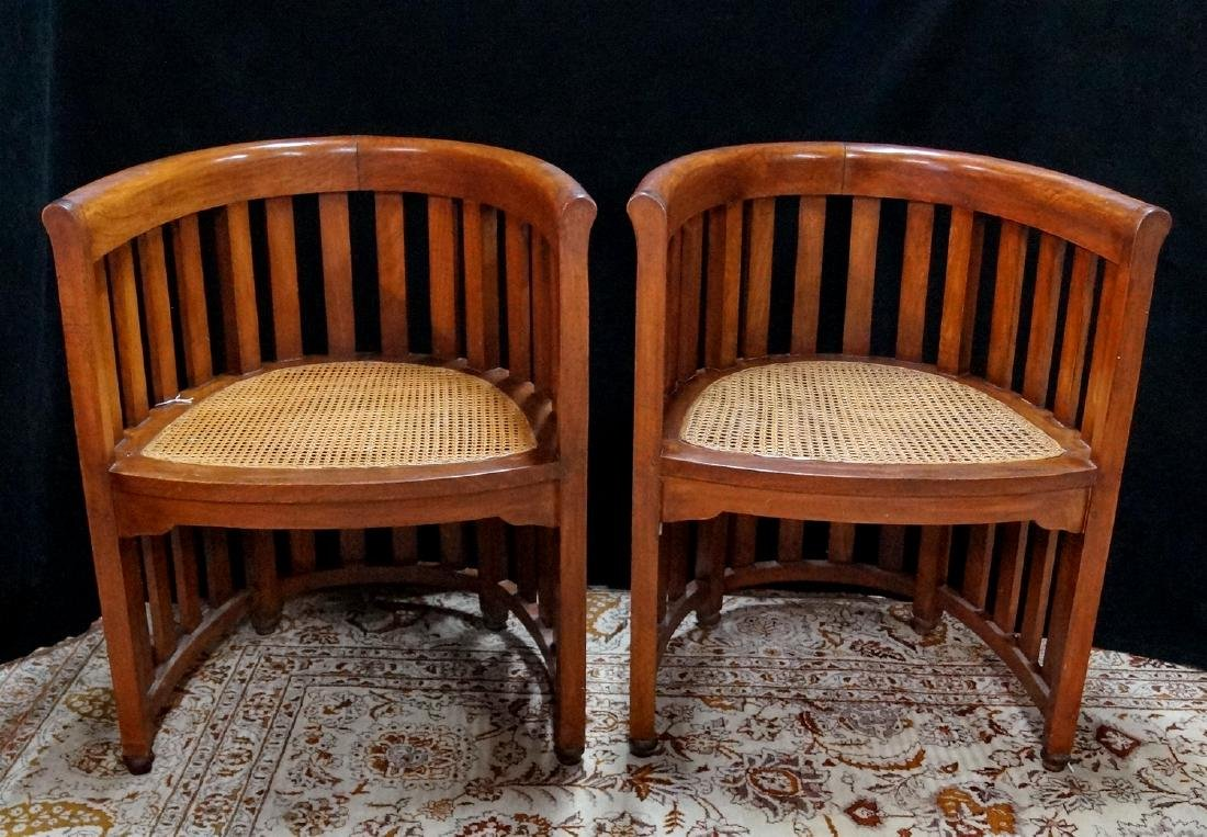 PR. ARTS & CRAFTS CANED CHAIRS